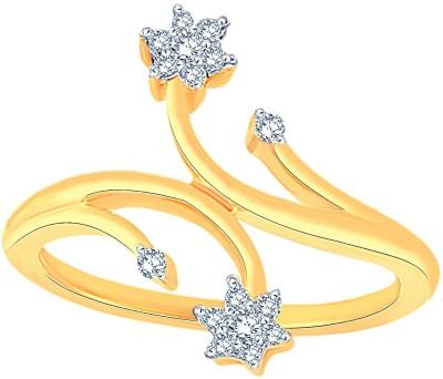 Maya Diamond Designer 18kt Diamond Yellow Gold ring(Yellow Gold Plated) at flipkart