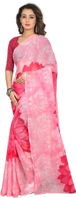 Divastri Self Design Fashion Georgette Saree(Pink) at flipkart