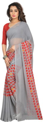 Divastri Self Design Fashion Georgette Saree(Grey, Red) at flipkart