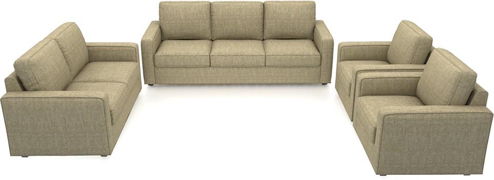 Urban Ladder Apollo Compact Fabric 3 + 2 + 1 + 1 Sandstorm Sofa Set