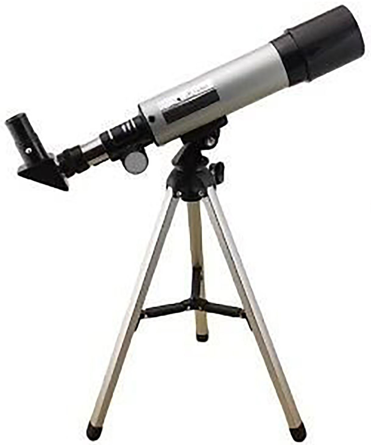 Sukot Land & Sky Astronomical Telescope - Optical Glass & Metal Tube Refractor Telescope (90X Power) With Free TRIPOD & 2 EYEPIECES Refracting Telescope(Manual Tracking)