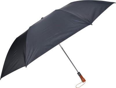 Fendo 2 Fold Black silver 2 person Umbrella(Black)