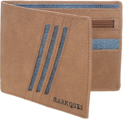 MARKQUES Men Tan Artificial Leather Wallet(6 Card Slots)