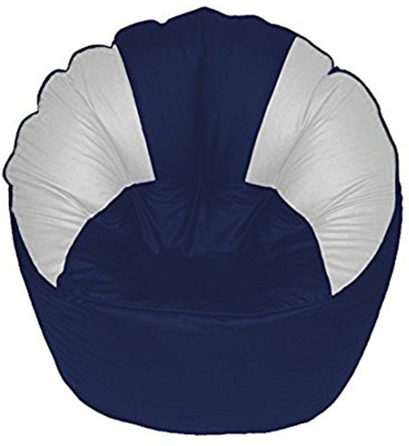 View Akhilesh Bean Bags & Furniture XXL Bean Chair Cover(Blue, White) Furniture (Akhilesh Bean Bags & Furniture)