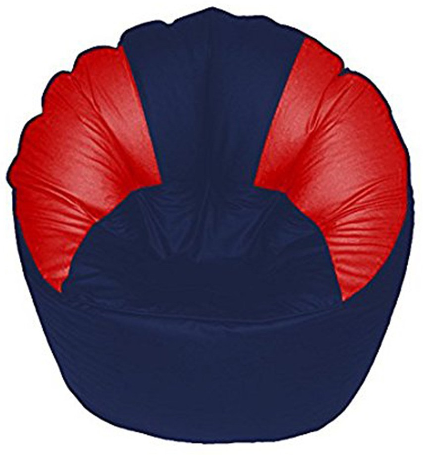 View Akhilesh Bean Bags & Furniture XXXL Bean Chair Cover(Blue, Red) Furniture (Akhilesh Bean Bags & Furniture)