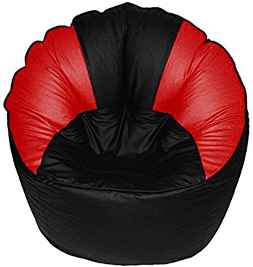 View Akhilesh Bean Bags & Furniture XXL Bean Chair Cover(Black, Red) Furniture (Akhilesh Bean Bags & Furniture)