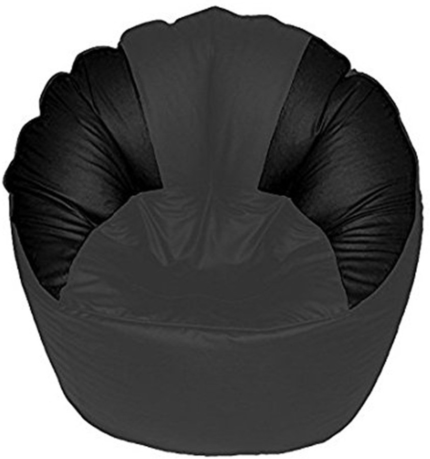 View Akhilesh Bean Bags & Furniture XXL Bean Chair Cover(Grey, Black) Furniture (Akhilesh Bean Bags & Furniture)