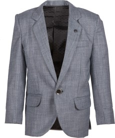Abito Solid Single Breasted Party Boys Blazer(Blue)