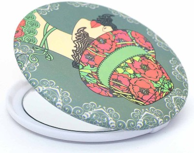 Color Fever Dual Magnifying Compact Mirror (Green Beauty)