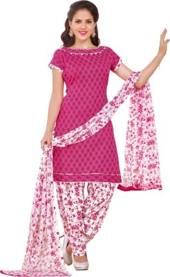 Divastri Polycotton Floral Print, Printed Salwar Suit Dupatta Material(Un-stitched) at flipkart