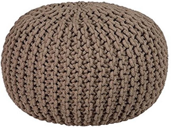 View ACASA Natural Fiber Pouf(Finish Color - BROWN, LATTE) Furniture (ACASA)
