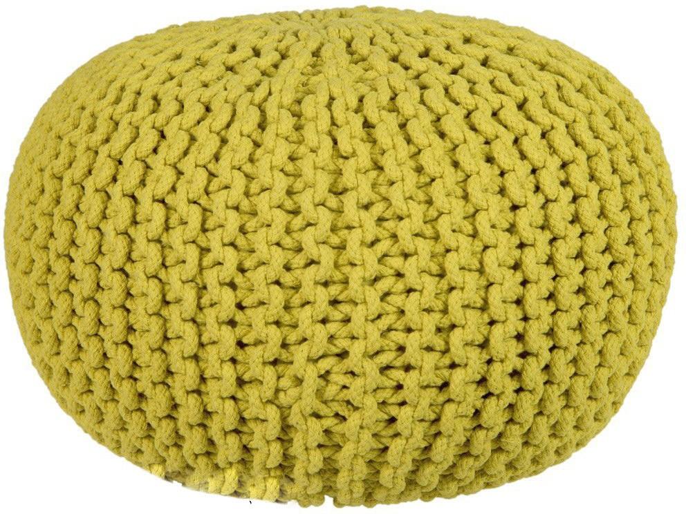 View ACASA Natural Fiber Pouf(Finish Color - YELLOW, OCHRE) Furniture (ACASA)