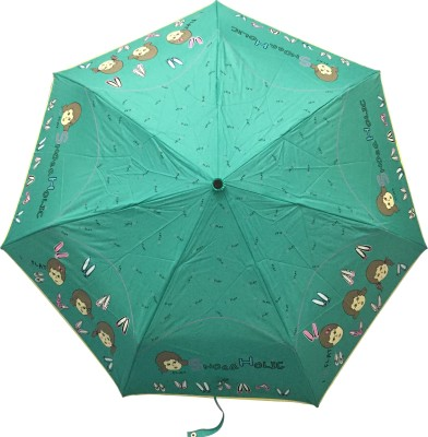 Stay Dry! 3 Fold Automatic Umbrella(Green) Image