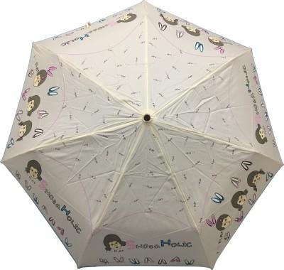 Stay Dry! 3 Fold Automatic Umbrella(White) Image