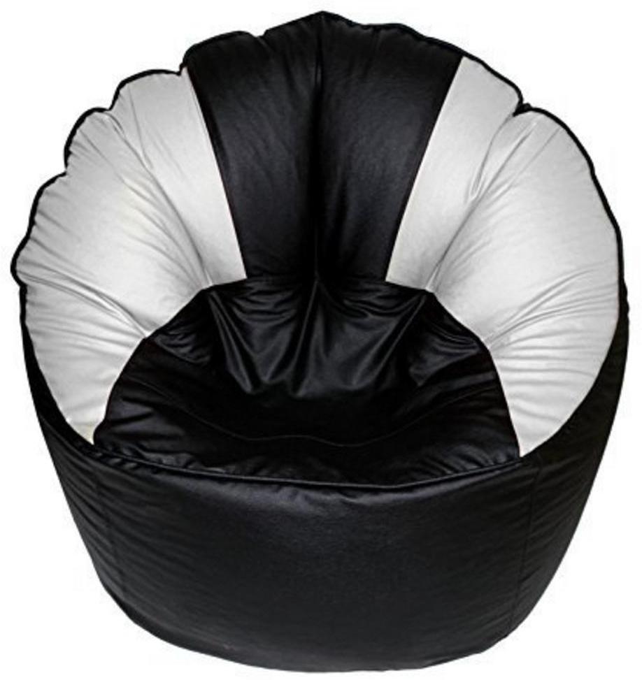 View Ink Craft XXXL Bean Chair Cover(Black) Furniture (InkCraft)