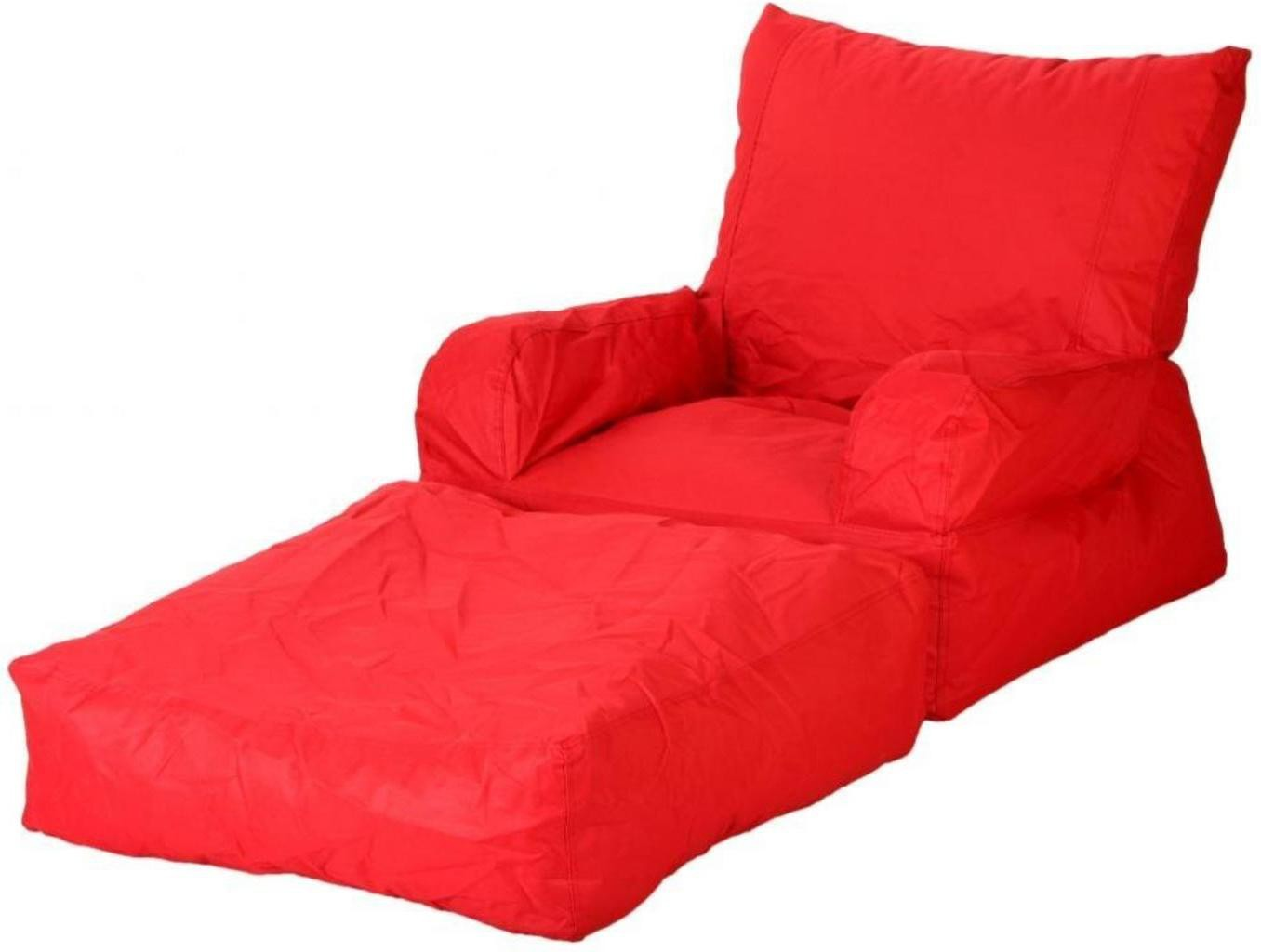View Ink Craft Large Lounger Bean Bag Cover(Red) Furniture (InkCraft)