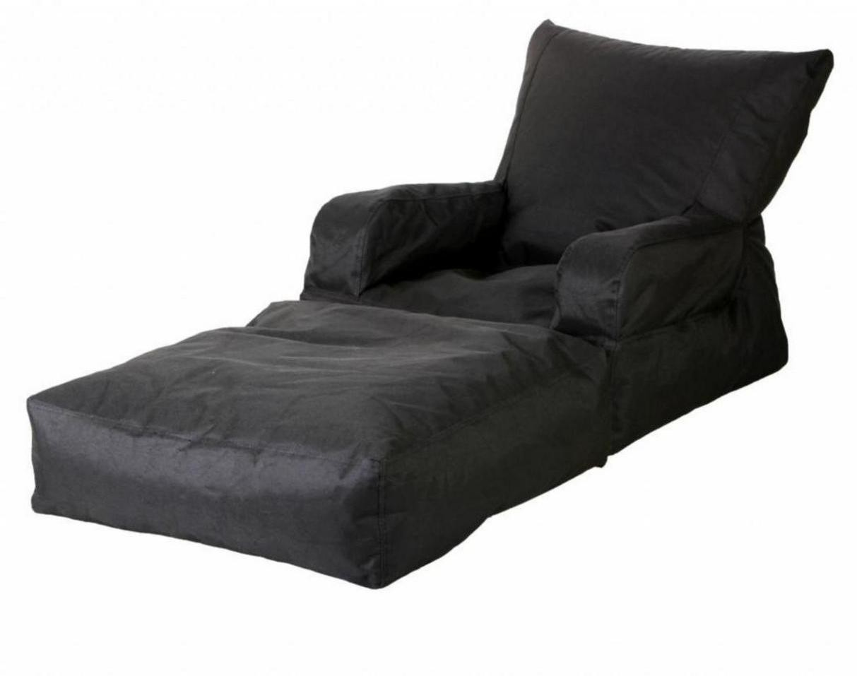 View Ink Craft Large Lounger Bean Bag Cover(Black) Furniture (InkCraft)