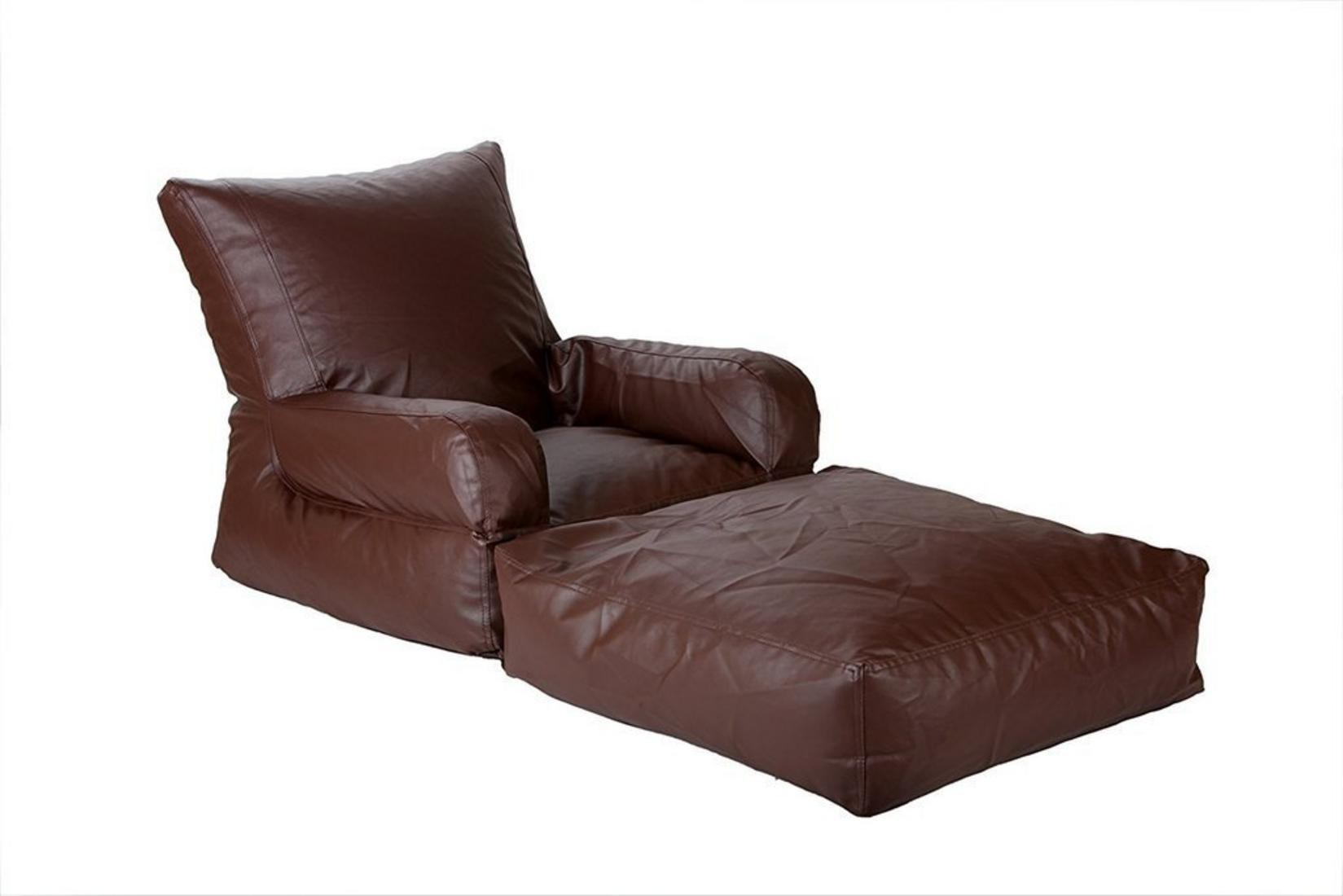 View Ink Craft Large Lounger Bean Bag Cover(Brown) Furniture (InkCraft)