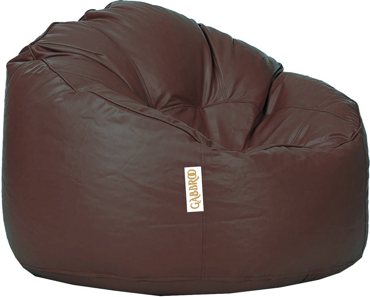 View Gabbroo XXXL Lounger Bean Bag  With Bean Filling(Brown) Furniture (Gabbroo)