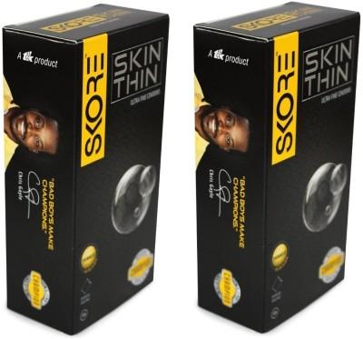 SKORE (CONCEALED / CONFIDENTIAL PACKAGING) - Skin Thin Condom(Set of 2, 20S) at flipkart