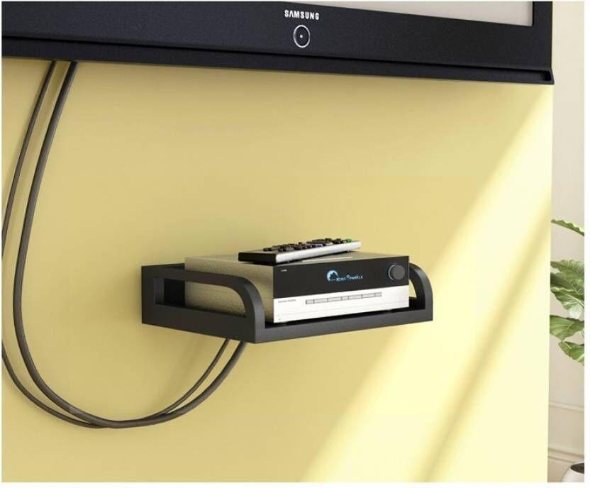 View JaipurCrafts Black Set Top Holder Wooden Wall Shelf(Number of Shelves - 1, Multicolor) Furniture (JaipurCrafts)