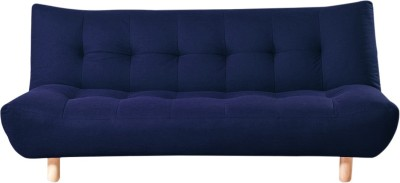 Furny Palermo Double Solid Wood Sofa Bed(Finish Color - Blue Mechanism Type - Fold Out)