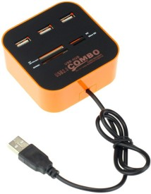 BB4 All In One + Usb 3 Port Combo HUB Card Reader(Multicolor)