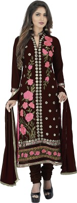 Divastri Georgette Embroidered Salwar Suit Dupatta Material(Un-stitched) at flipkart