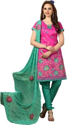 Divastri Cotton Embroidered Salwar Suit Dupatta Material(Un-stitched) at flipkart