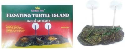 shalimar pets Floating Turtle Island   Perfect As Turtle Bask   Rest Platform   Medium Size (27.50 x 16.50cm) Fiber Tough Toy For Turtle