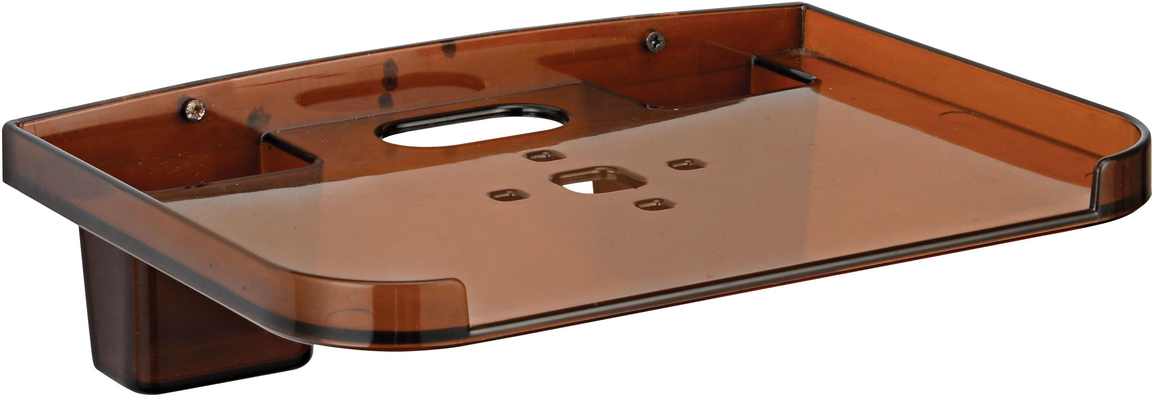 View 0001 SET TOP BOX & REMOTE HOLDER Plastic Wall Shelf(Number of Shelves - 1, Brown) Furniture (0001)