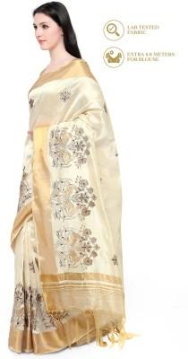 Divastri Embellished Fashion Silk Cotton Blend Saree(Multicolor) at flipkart