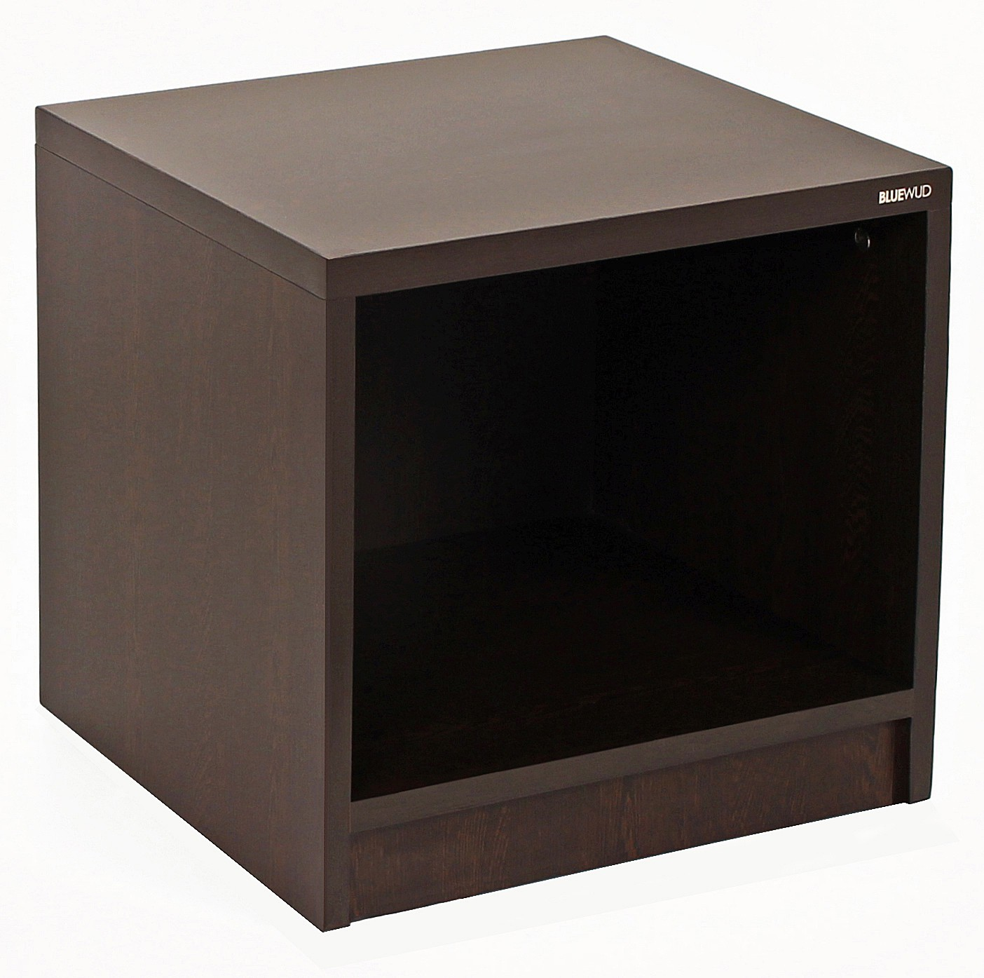 View Bluewud Oliver Engineered Wood Bedside Table(Finish Color - Wenge) Furniture (Bluewud)