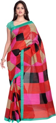 Divastri Self Design Fashion Polyester, Art Silk Saree(Multicolor) at flipkart