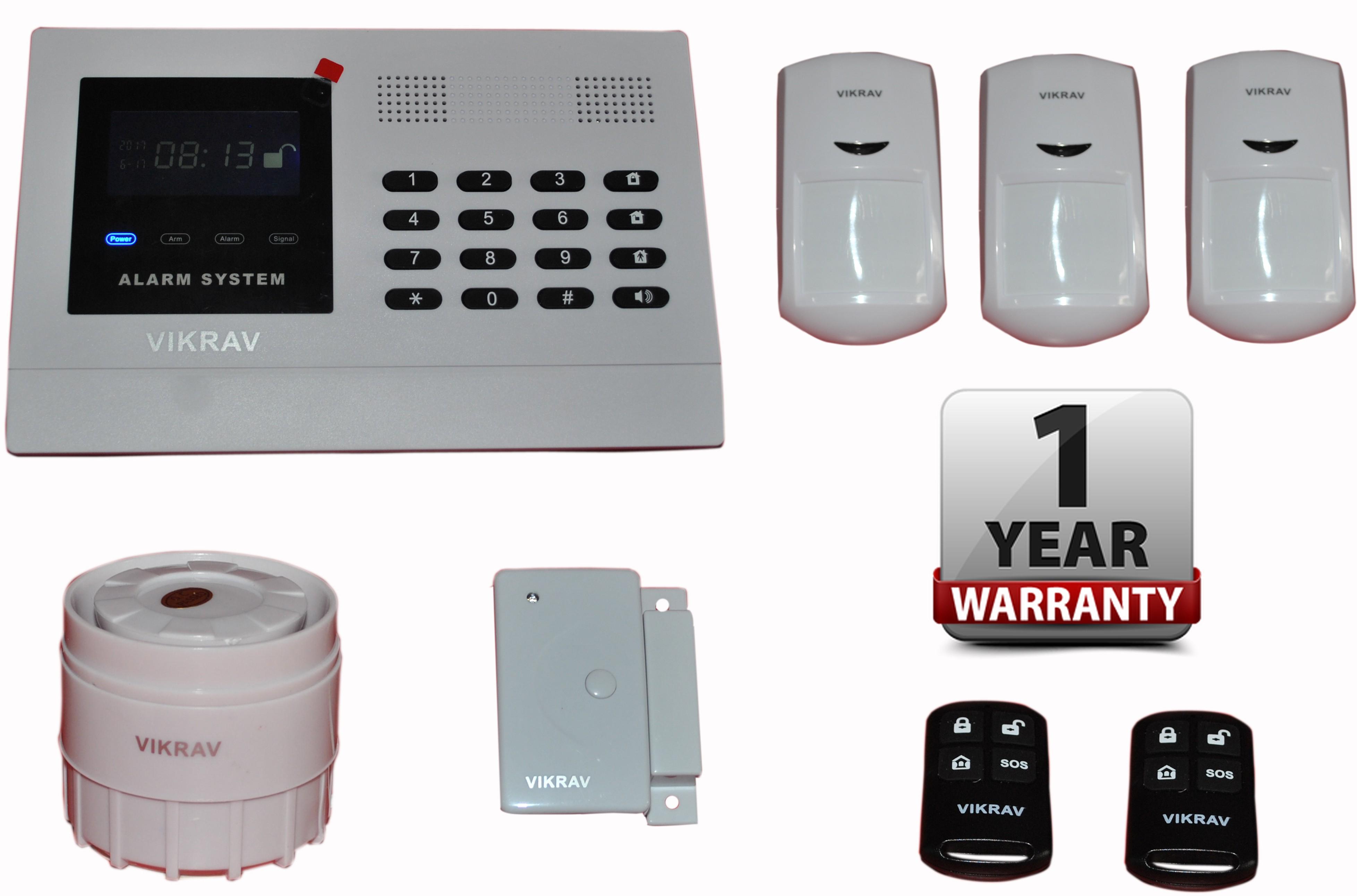 View vikrav VJ-101 Wireless Sensor Security System Home Appliances Price Online(vikrav)
