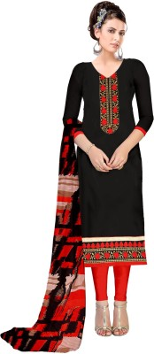 Divastri Cotton Linen Blend Embroidered Semi-stitched Salwar Suit Dupatta Material at flipkart