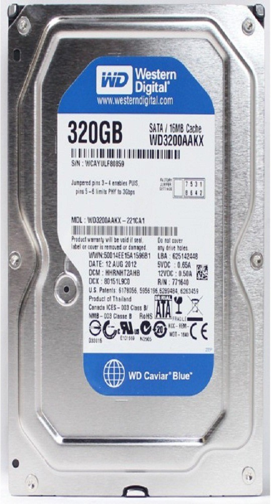 View wd caviar blue 320 GB Desktop Internal Hard Disk Drive (caviar blue) Price Online(WD)
