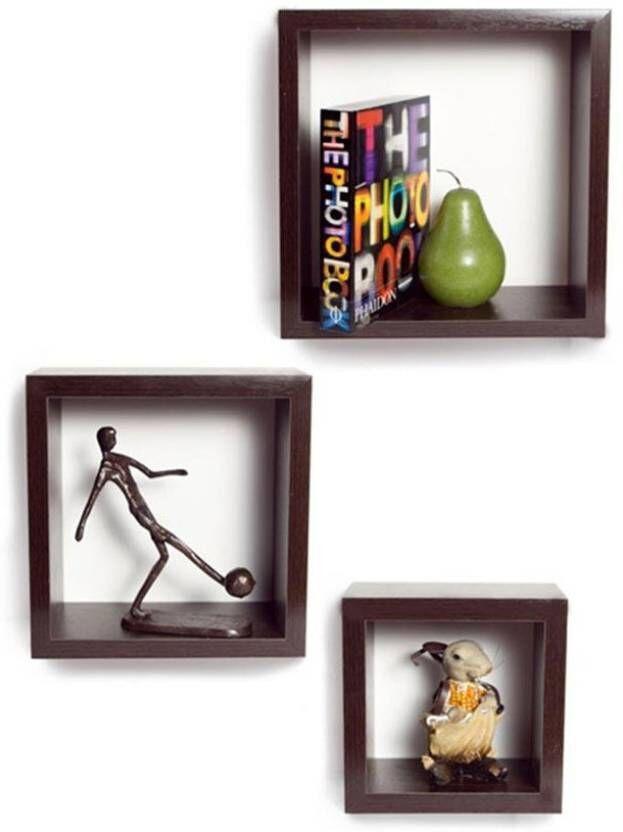 View JaipurCrafts Kate Set of 3 Wooden Wall Shelf(Number of Shelves - 3, Multicolor) Furniture (JaipurCrafts)