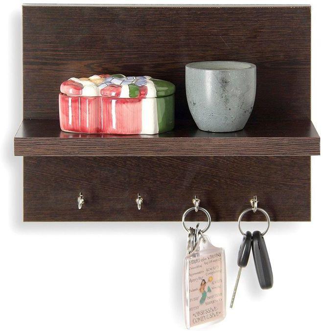 View JaipurCrafts Decorative Premium Wooden Wall Shelf(Number of Shelves - 1, Multicolor) Furniture (JaipurCrafts)