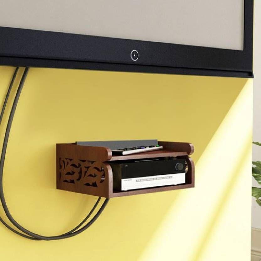 View JaipurCrafts Brown Set Top Holder Wooden Wall Shelf(Number of Shelves - 1, Multicolor) Furniture (JaipurCrafts)