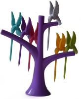 iStore Humming Bird Fruit Forks Tree Shaped Stand Plastic Fruit Fork
