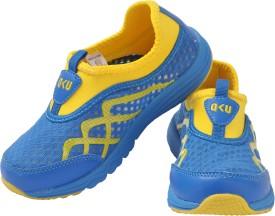 Yellow Bee Boys Slip on Sneakers(Blue)
