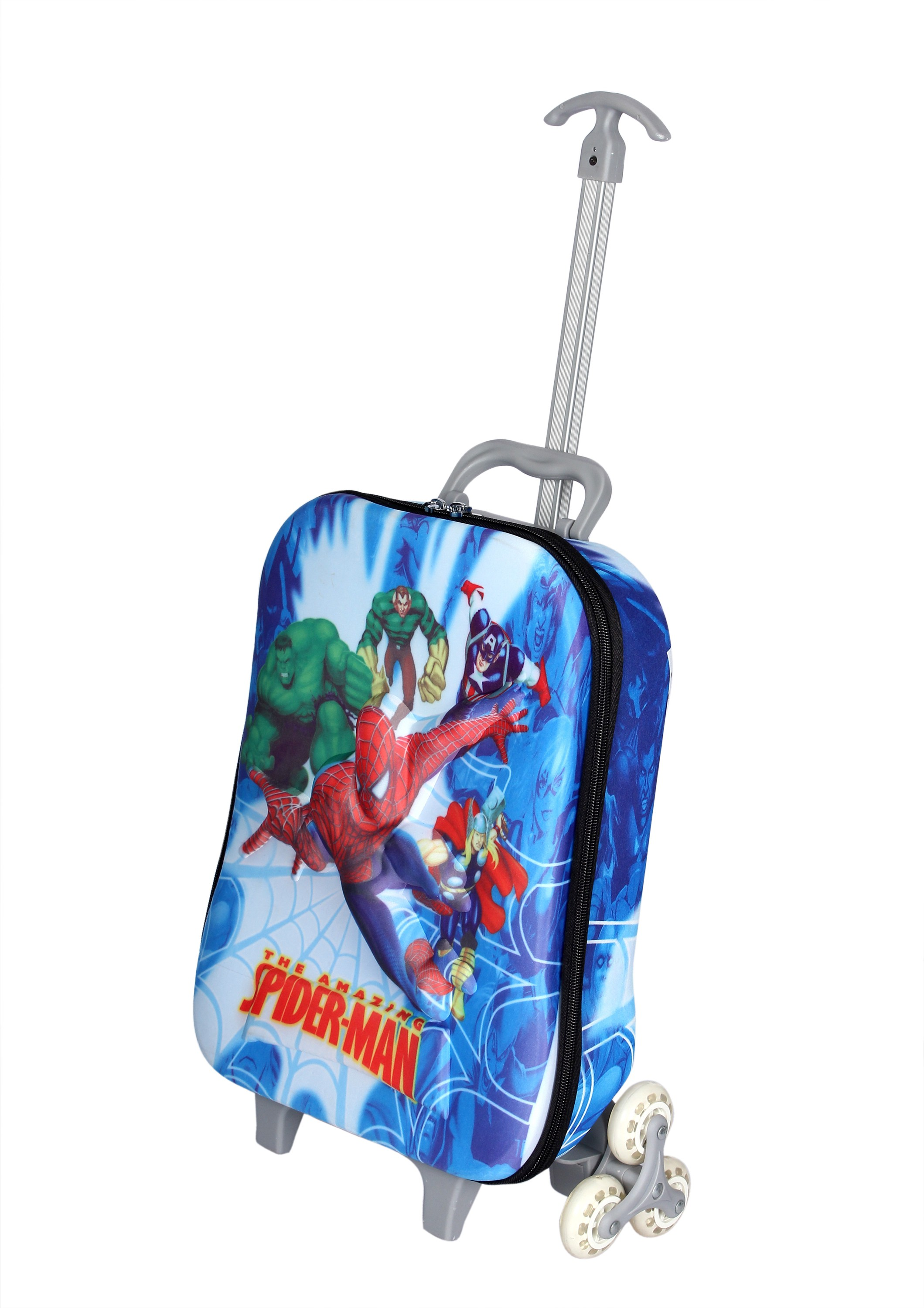 HSR Stylish 3D Design Childrens Travelling Trolley Bag Small Travel Bag(Multicolor)