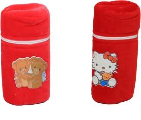 Kuber Industries Baby Soft Feeding Bottle Cover Velvet with Zip(Multicolor)