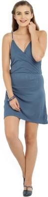 ALCOTT Women Empire Waist Blue Dress at flipkart