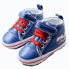 Baby Bucket Boys Velcro Walking Shoes(Blue)