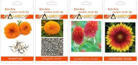 Alkarty Marigold, Sungold, Gomphrena, Gaillardia summer flower Seed(20 per packet)