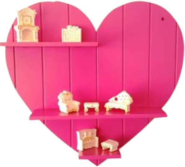 View skood MDF Wall Shelf(Number of Shelves - 3, Pink) Furniture (skood)