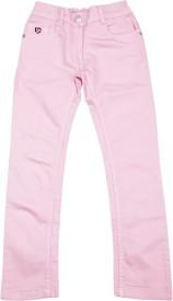 U S Polo Kids Regular Girls Pink Jeans