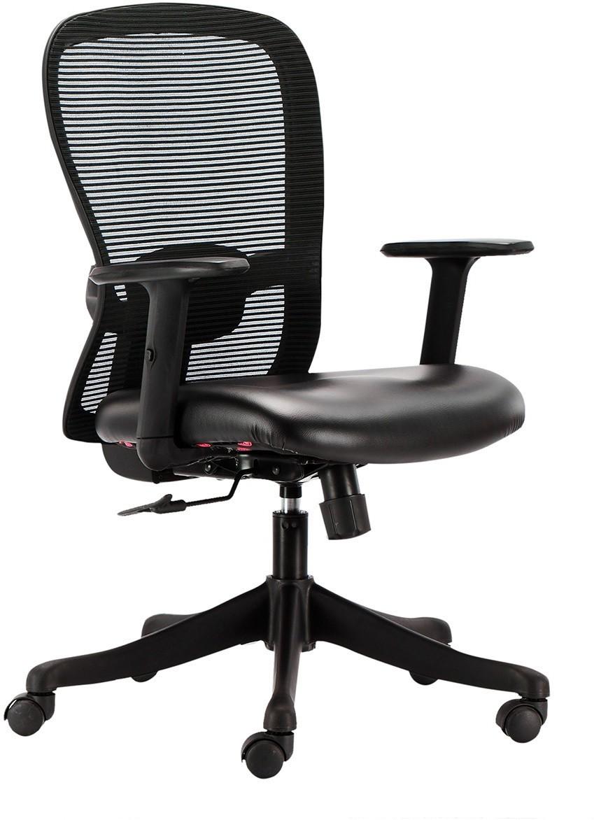View HOF Marco 1014 Leatherette Office Arm Chair(Black) Furniture (HOF)